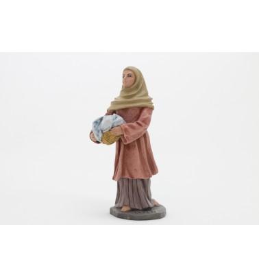 Pastora con cesto ropa. Nº 5
