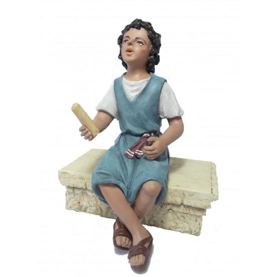 Niño sentado pies cruzados ( solo niño )