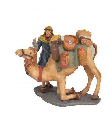 Grupo camello sentándose cargado