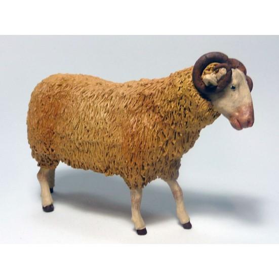 Borrego lana con cuernos para 18 cm