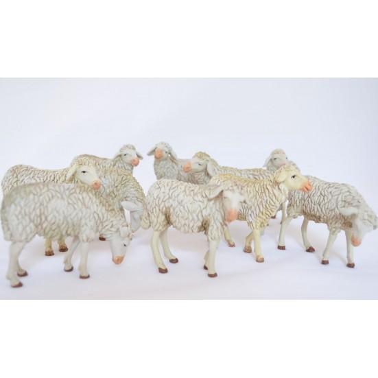 Grupo 10 ovejas surtidas flexibles para 14 cm.
