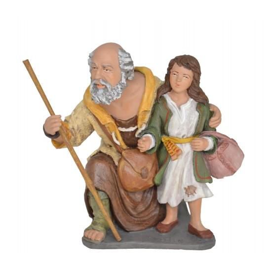 Pastor adorando con niña