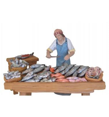 Pescadero con puesto