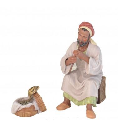 Flautista y cesta con serpiente