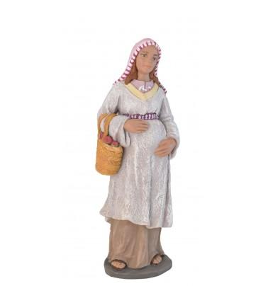 Pastora embarazada con cesto