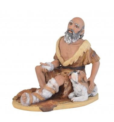 Mendigo sentado con perro Nº 12