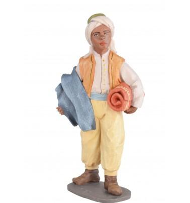 Niño vendiendo alfombras - Fabricado en pasta cerámica Italiana