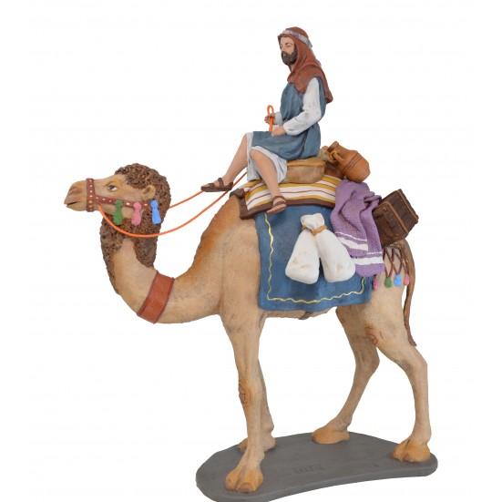 Pastor a camello con carga - Fabricado en pasta cerámica Italiana