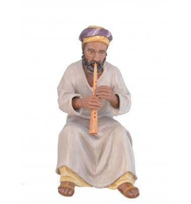Flautista - Fabricado en pasta cerámica Italiana