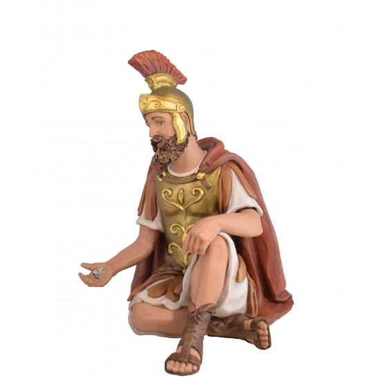 Soldado Romano sentado con dados - Fabricado en pasta Cerámica Italiana