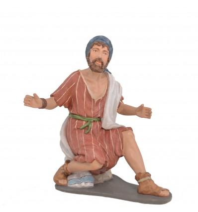 Pastor Anunciación sentado Nº 2 - Fabricado en pasta cerámica Italiana