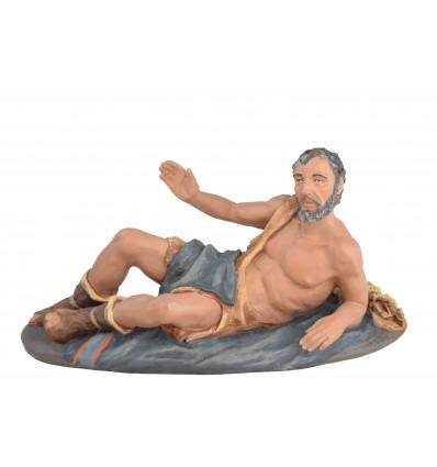 Pastor anunciación tumbado Nº 3 - Fabricado en pasta cerámica Italiana